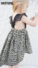 Load image into Gallery viewer, Beiby Bamboo Sibling Matching little sister / 3M Sibling Matching Leopard Dress