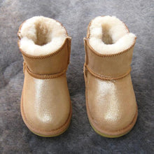 Load image into Gallery viewer, Beiby Bamboo snow boots U gold / 5 Unisex Shiny Snow Ankle Boots For Kids