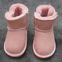Load image into Gallery viewer, Beiby Bamboo snow boots U pink / 5 Unisex Shiny Snow Ankle Boots For Kids