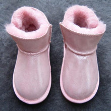 Load image into Gallery viewer, Beiby Bamboo snow boots U Shiny pink / 5 Unisex Shiny Snow Ankle Boots For Kids