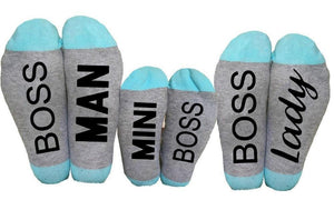 Beiby Bamboo socks Blue / Man Boss Boss Family Socks