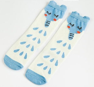 Beiby Bamboo socks Elephant / 0 to 1 year Cartoon Unisex Knee High Boot Socks