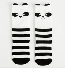 Load image into Gallery viewer, Beiby Bamboo socks panda / 0 to 1 year Cartoon Unisex Knee High Boot Socks