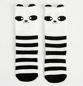 Beiby Bamboo socks panda / 0 to 1 year Cartoon Unisex Knee High Boot Socks