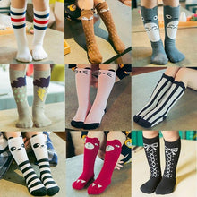 Load image into Gallery viewer, Beiby Bamboo socks vertical Article / 0 to 1 year Cartoon Unisex Knee High Boot Socks