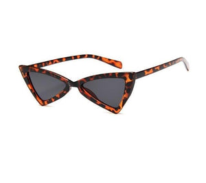 Beiby Bamboo Sun Glasses Leopard Women Vintage cat eye sun glasses