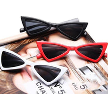 Load image into Gallery viewer, Beiby Bamboo Sun Glasses White Women Vintage cat eye sun glasses