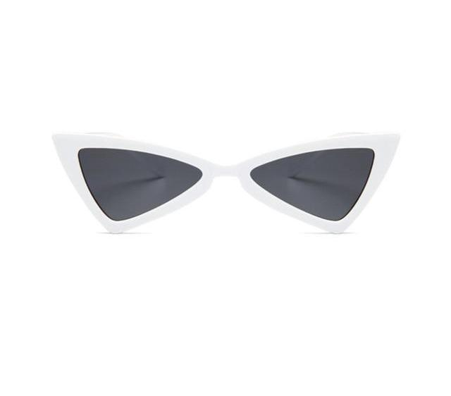 Beiby Bamboo Sun Glasses White Women Vintage cat eye sun glasses