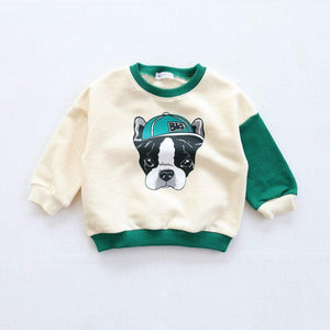 "Beiby Bamboo sweaters Blue / kid 2Pieces 18M Family Matching Outfits "" Bull Dog"""