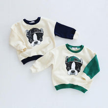 "Load image into Gallery viewer, Beiby Bamboo sweaters Blue / kid 2Pieces 18M Family Matching Outfits "" Bull Dog"""