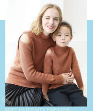Load image into Gallery viewer, Beiby Bamboo sweaters White / 110 Mommy and Me Matching Off Shoulder Sweater