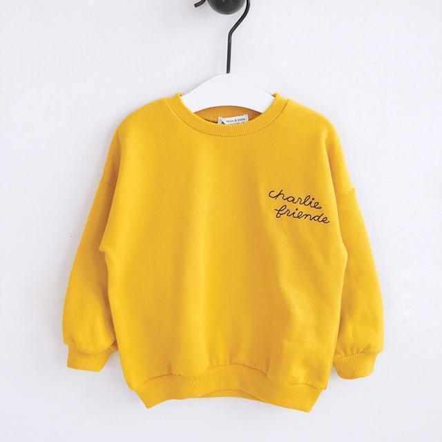Beiby Bamboo sweaters Yellow / 18M Family Matching Hoodies
