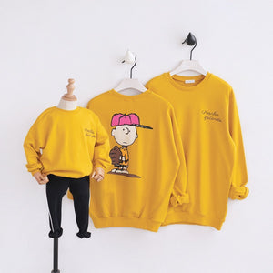 "Beiby Bamboo sweaters Yellow / Dad L Family Matching Hoodies ""Charlie Brown"" Yellow"