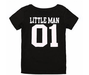 "Beiby Bamboo T-shirt Black / Kids 3T ""Big Man And Little Man"" Matching T-Shirt"