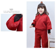 Load image into Gallery viewer, Beiby Bamboo Tangzhuang Red / 18M-24M Chinese Traditional cheongsam Set For Girls