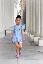 Load image into Gallery viewer, Beiby Bamboo tops 2T Beiby Bamboo Girls Striped Tassel Dress
