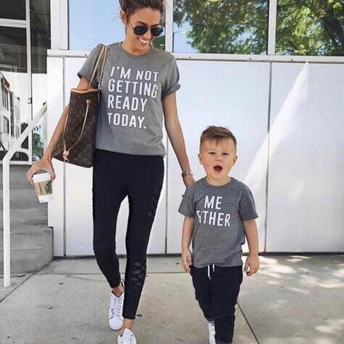 Beiby Bamboo tops Gray / S Mommy and Me
