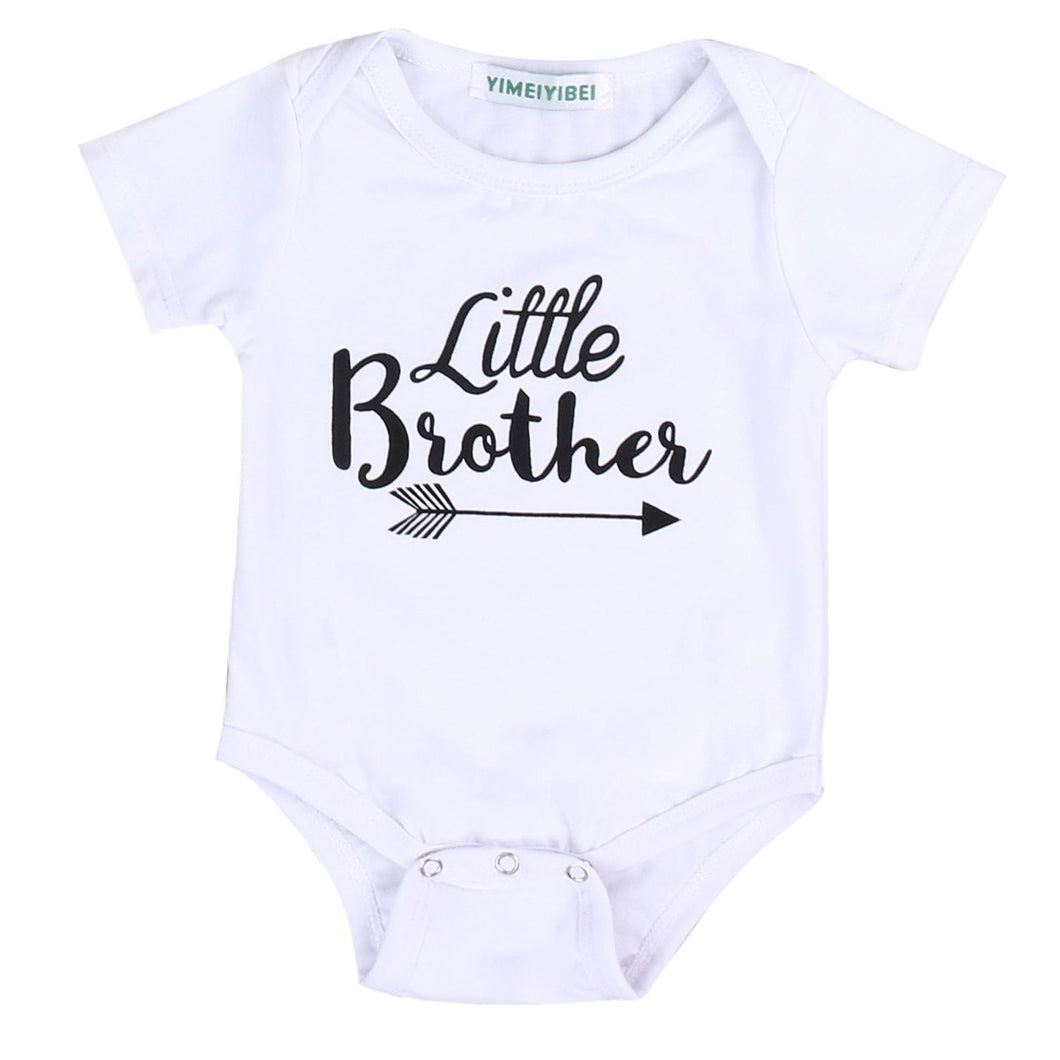 Beiby Bamboo tops Little Brother 6M Big Sister Little Brother Matching Tops
