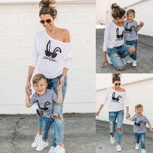Load image into Gallery viewer, Beiby Bamboo tops S Mother and Baby Bunny Matching T-Shirt