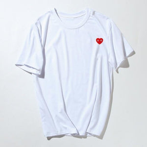 "Beiby Bamboo tops White / M ""Little Red Heart"" Unisex T Shirt"