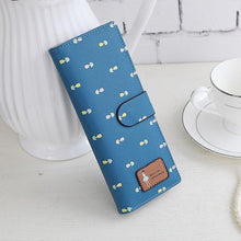 Load image into Gallery viewer, Beiby Bamboo wallets Sapphire Blue Large Capacity Credit Card Business Card Holders