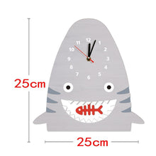 Load image into Gallery viewer, Beiby Bamboo Wood Clock Wood Shark Pendulum Wall Clock For Kids Bedroom