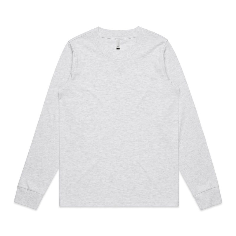 Womens Dice Long Sleeve Tshirt - Ash Heather