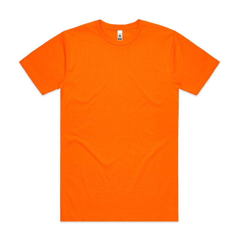 Mens Block Tshirt - Safety Orange