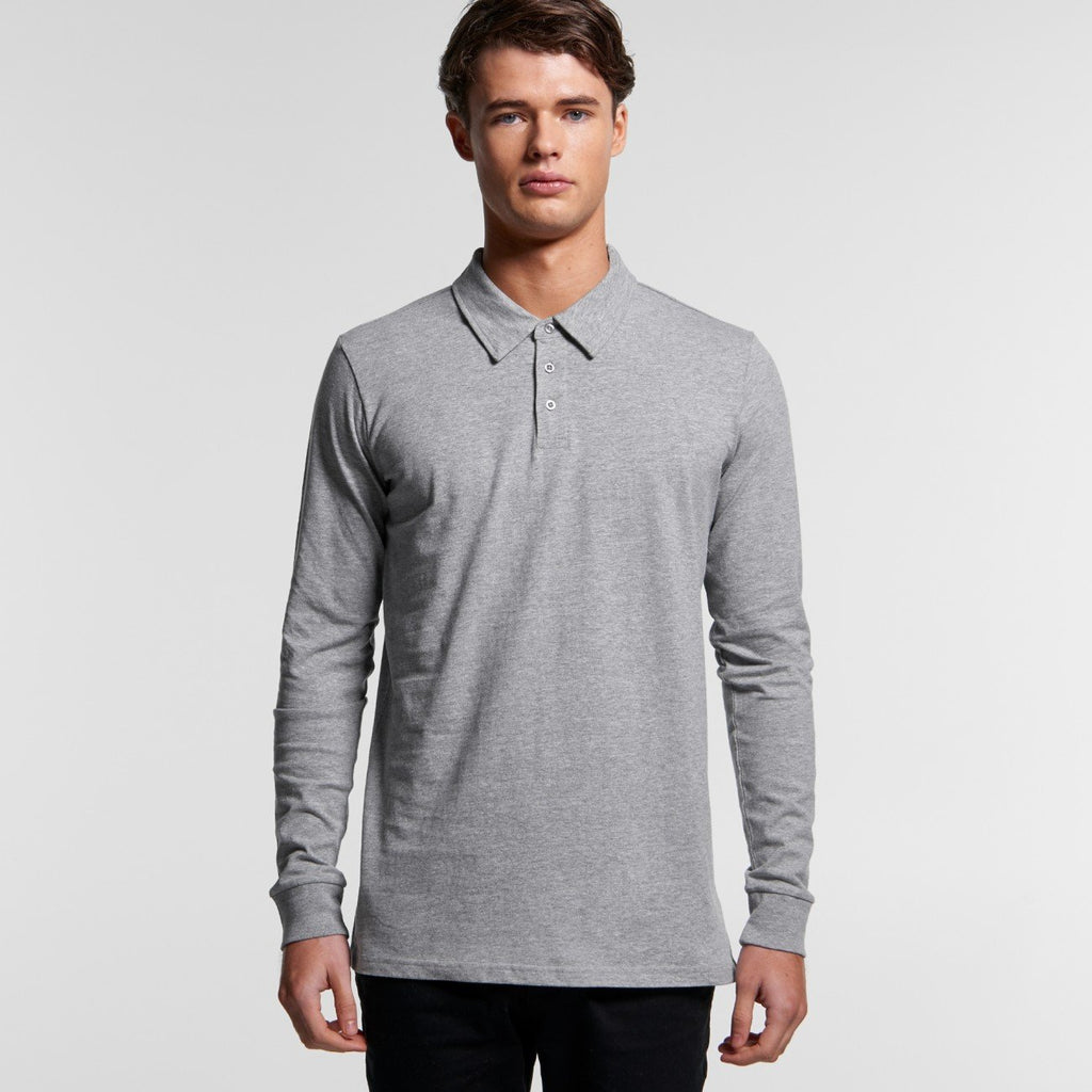 Mens Chad Long Sleeve Polo shirt-Mens Polo shirt-The Tshirt Studio