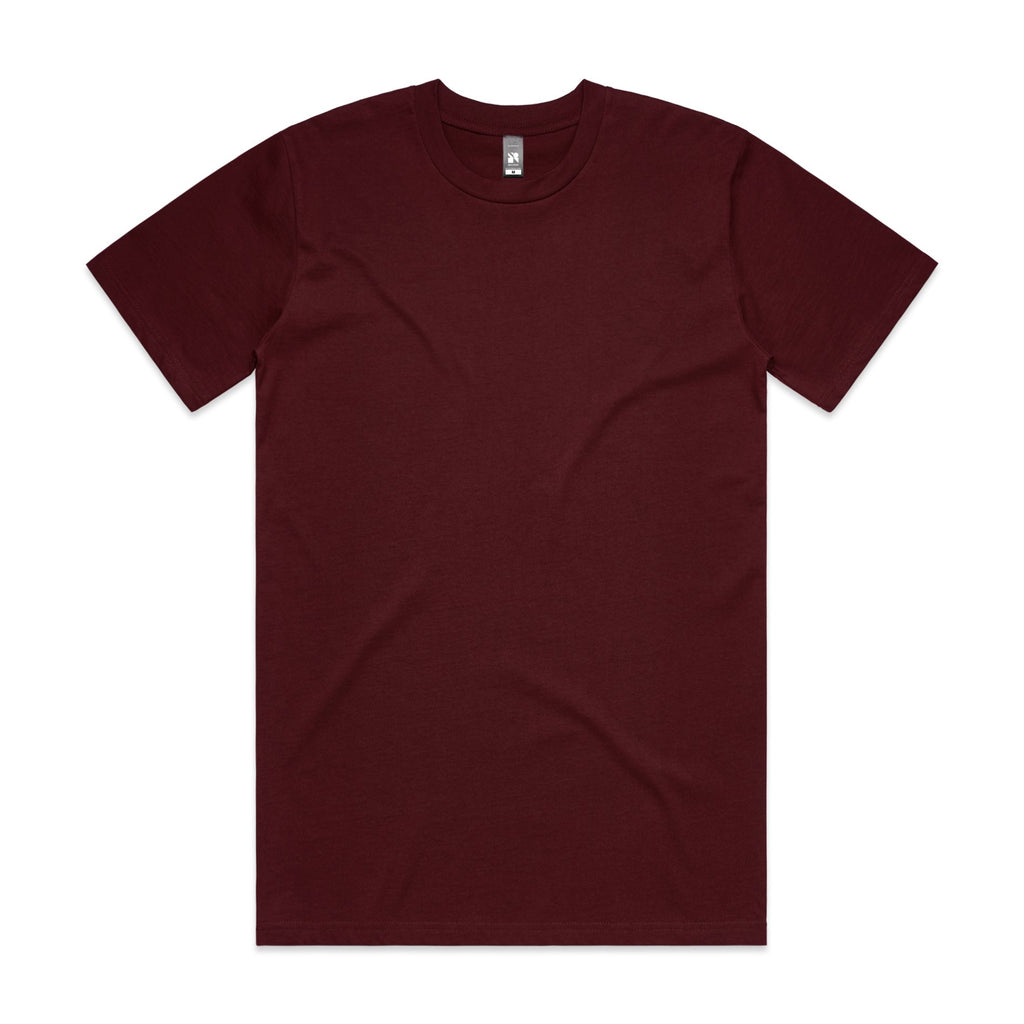 Mens Surf Tshirt - Burgundy