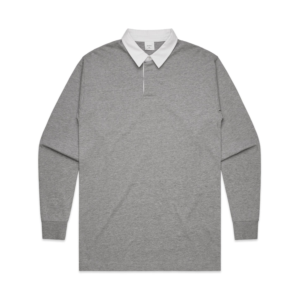Mens Rugby Jersey - Grey-Mens Rugby Jersey-The Tshirt Studio