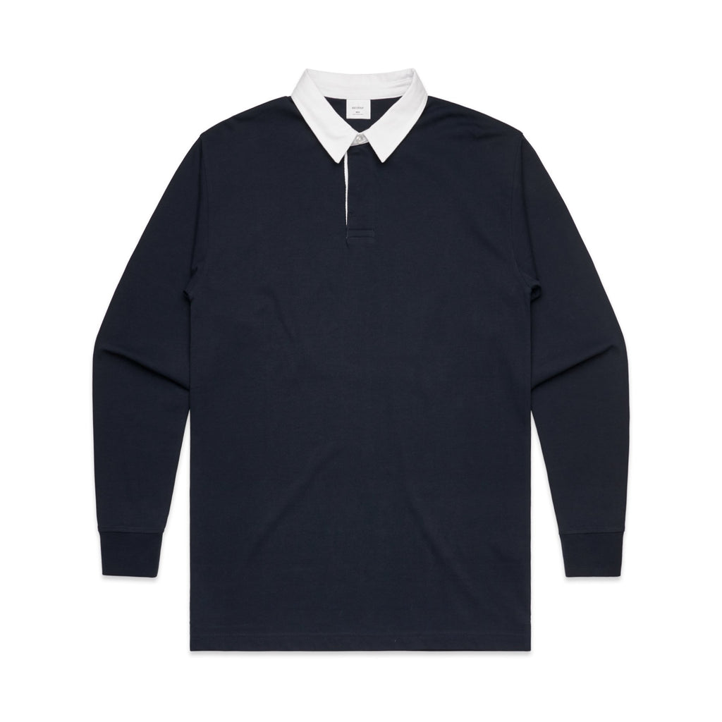 Mens Rugby Jersey - Navy-Mens Rugby Jersey-The Tshirt Studio