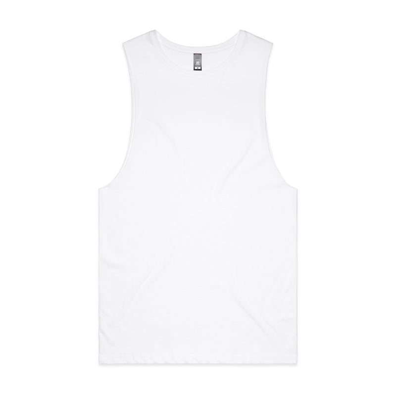Mens Sleeveless Tank - White