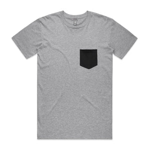Mens Premium Pocket Tshirt - Grey