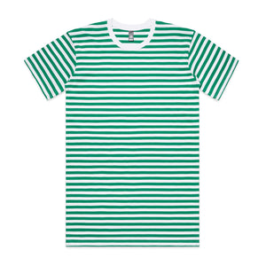 Mens Premium Stripe Tshirt - Green