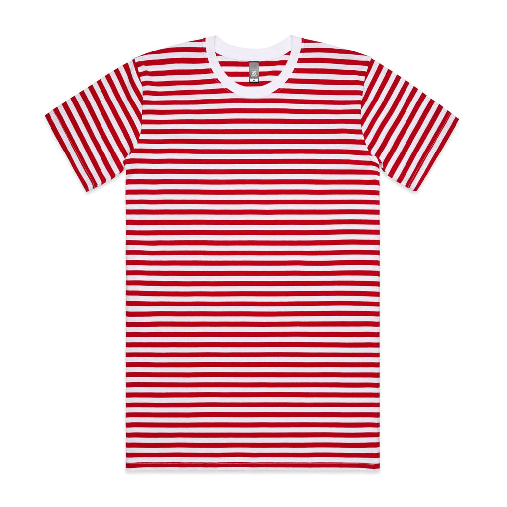 Mens Premium Stripe Tshirt - Red