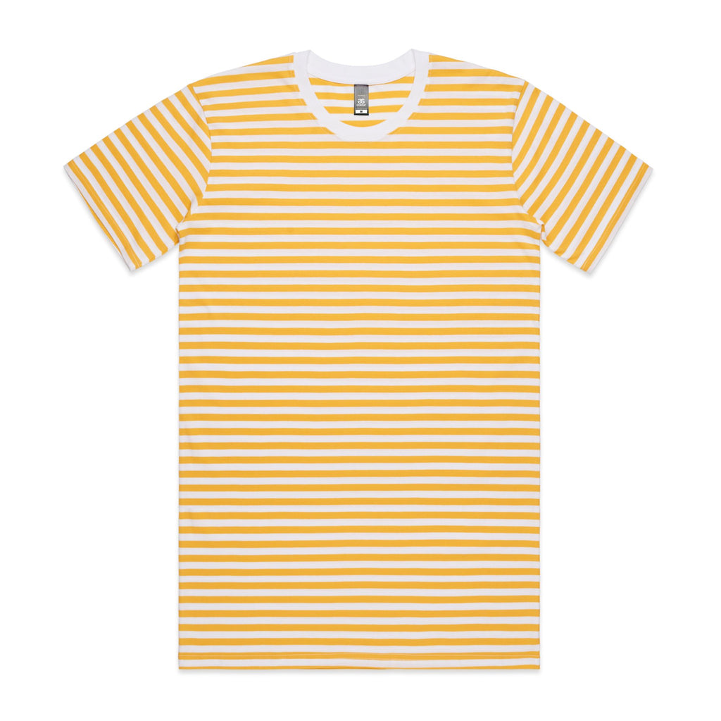 Mens Premium Stripe Tshirt - Yellow
