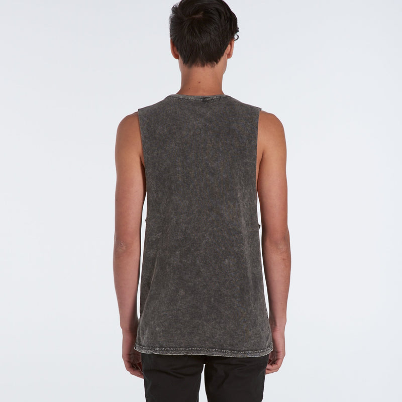 Mens Stone Wash Sleeveless Tank