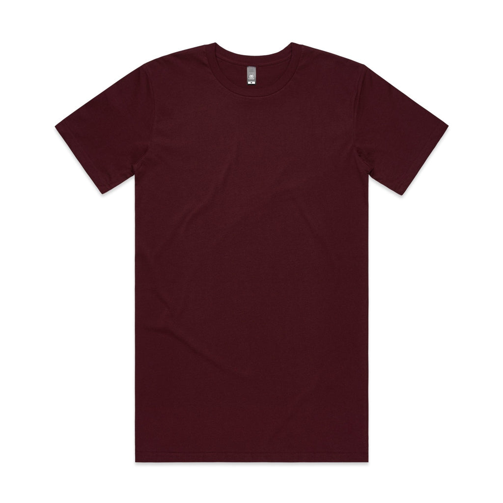 Mens Tall Tshirt - Burgundy