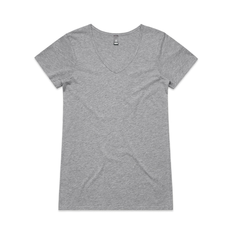 Womens Bevel V-Neck Tshirt - Grey