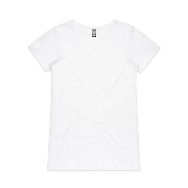 Womens Bevel V-Neck Tshirt - White
