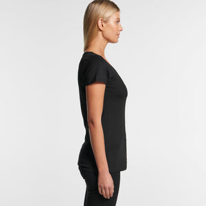 Womens Bevel V-Neck Tshirt