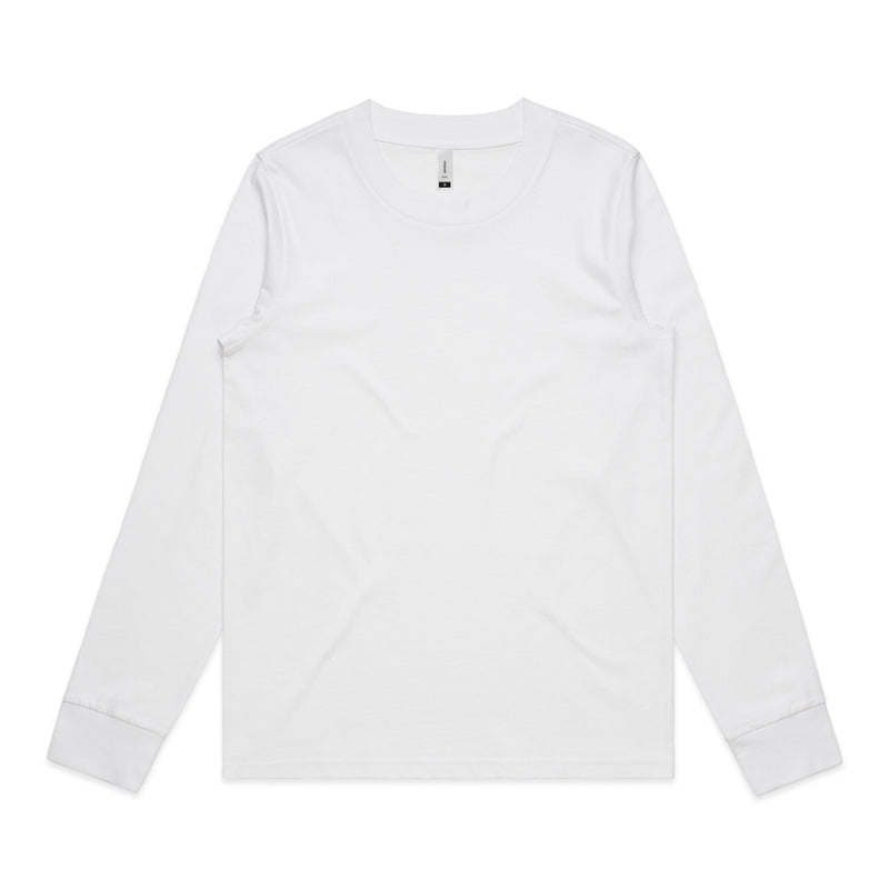Womens Dice Long Sleeve Tshirt - White