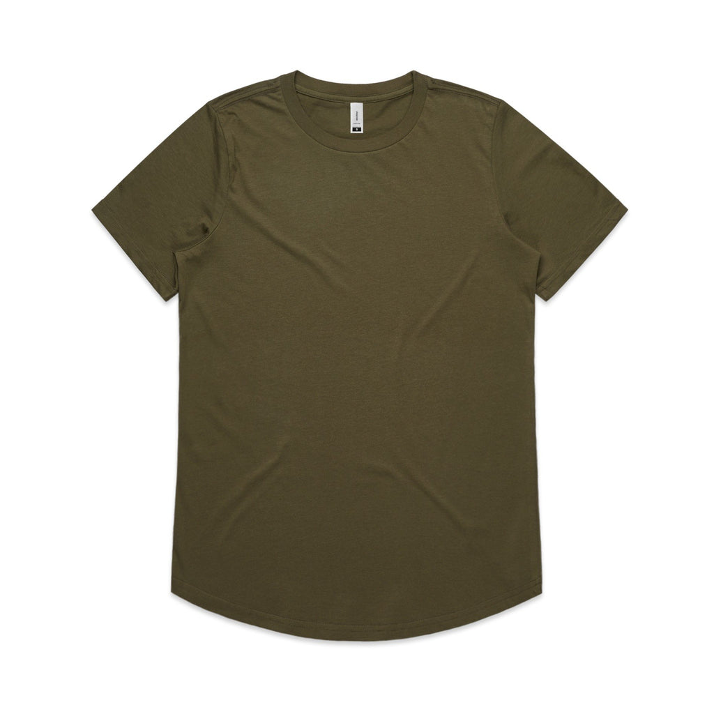 Womens Drop Tshirt - Army