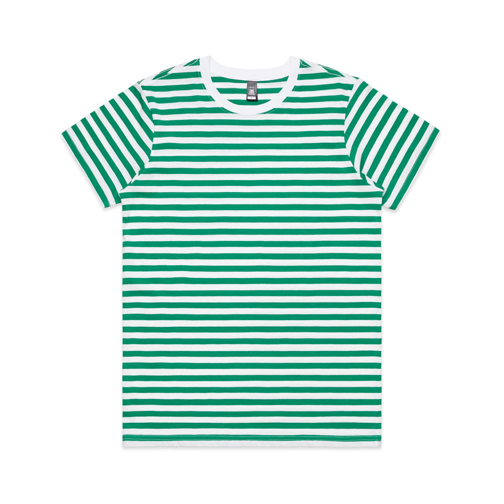 Womens Premium Stripe Tshirt - Green