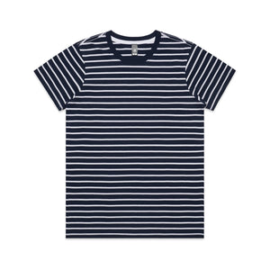 Womens Premium Stripe Tshirt - Navy