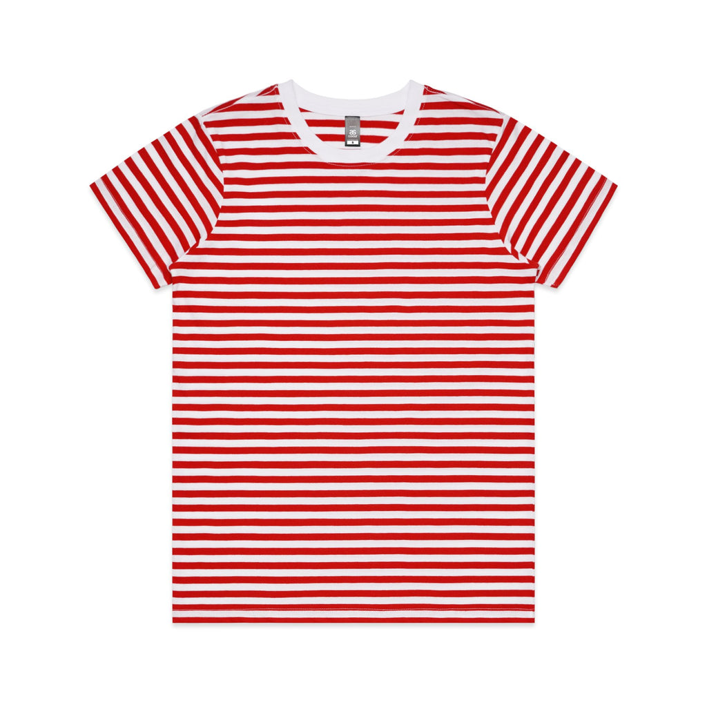 Womens Premium Stripe Tshirt - Red