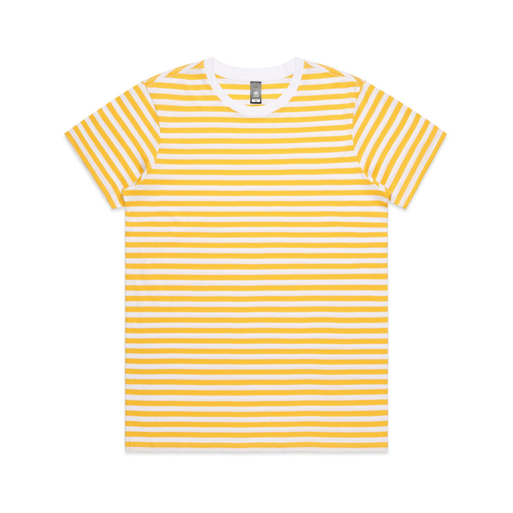 Womens Premium Stripe Tshirt - Yellow