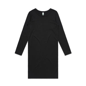 Womens Mika Organic Long Sleeve Dress - Black