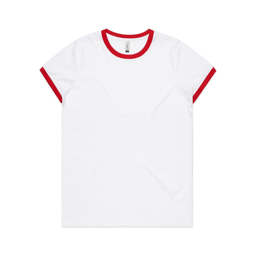 Womens Ringer Tshirt - Red